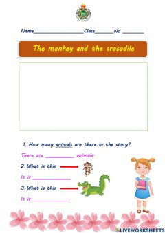 Interactive worksheet The monkey and the crocodile