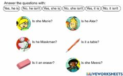 Interactive worksheet Answer with yes or no