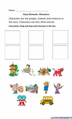 Interactive worksheet Story Elements- Character