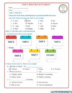 Interactive worksheet Review Unit 3
