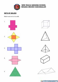 Interactive worksheet Nets of Solid