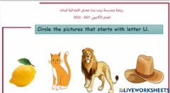 Interactive worksheet Look and choose the picture s that start with Letter Ll