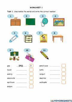 Interactive worksheet Review this, that, these, those