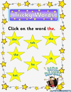 Interactive worksheet Sight Word '-the-