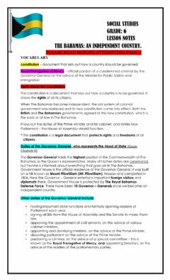 Interactive worksheet The Bahamas: An Independent Country