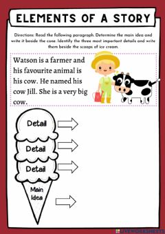 Interactive worksheet Main Idea and Supporting details