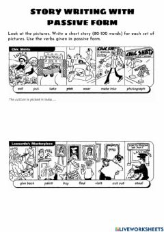 Interactive worksheet Passive Form - Write a story