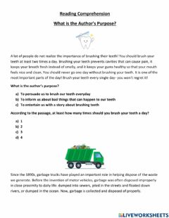 Interactive worksheet What Is The Author's Purpose?