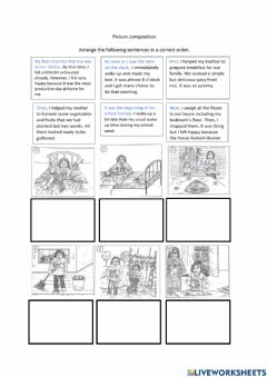 Interactive worksheet Picture composition