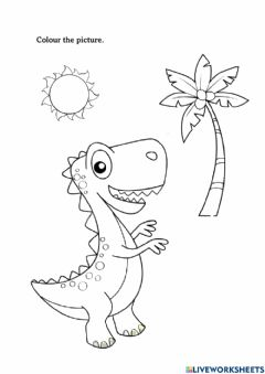 Interactive worksheet Colouring