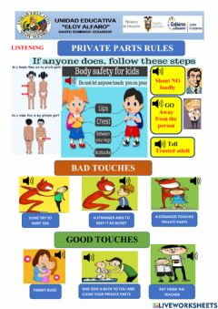 Interactive worksheet Private parts rules