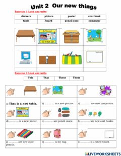 Interactive worksheet Unit 2: Our New Things