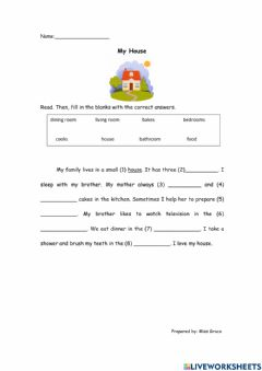 Interactive worksheet Unit 6: The Old House