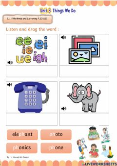 Ficha interactiva We Can 3 - Things We do - Lesson1