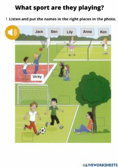 Interactive worksheet What sport are they playing?