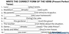 Interactive worksheet Student As