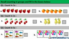 Interactive worksheet Counting in groups