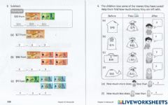 Ficha interactiva Addition and Subtraction of Brunei Notes