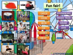 Interactive worksheet Fun fair! Who can... ? and What can you do ?