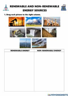 Interactive worksheet Renewable and non-renewable engergy sources