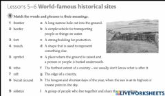 Interactive worksheet Historical places around the world
