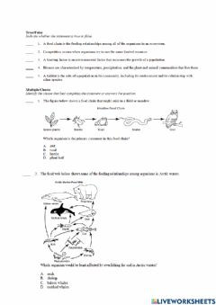 Ficha interactiva Ecology and the environment