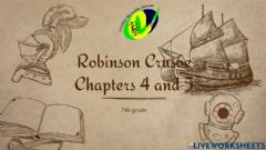 Interactive worksheet Robinson Crusoe chapter 4 and 5
