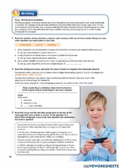 Interactive worksheet English Download Form 5 Unit 5 page 78-79