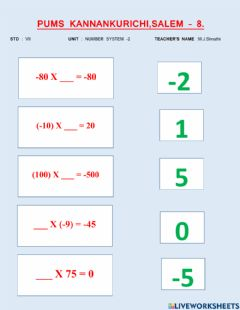 Ficha interactiva Numbers system -2