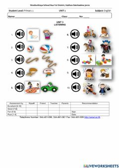 Interactive worksheet Things I can do