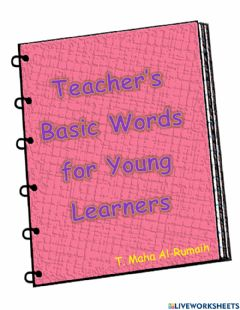 Interactive worksheet Teacher's basic words for young learners
