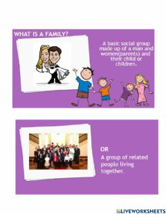 Ficha interactiva What is a Family?