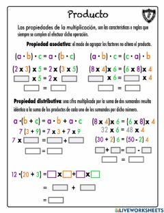 Interactive worksheet Producto