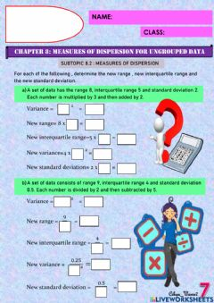 Interactive worksheet The effect of data change on dispersion