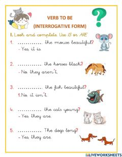 Ficha interactiva Verb to be Questions