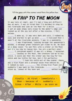Interactive worksheet A Trip to the Moon