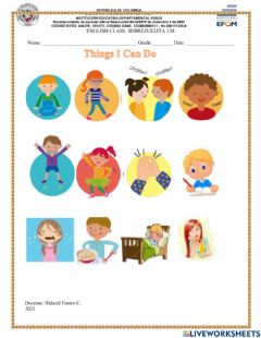 Interactive worksheet Things i can do...