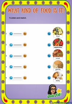 Interactive worksheet What kind of food is it?