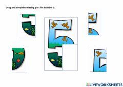 Ficha interactiva Find the missing part for number 5