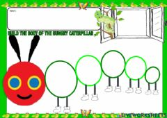 Interactive worksheet The very hungry caterpillar